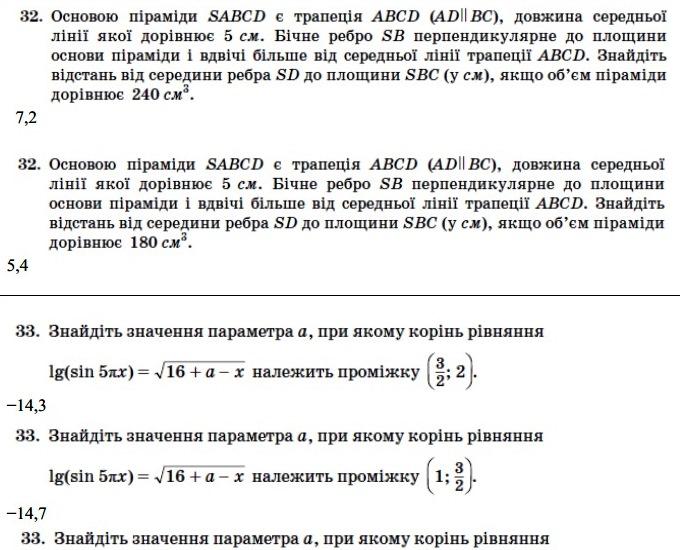 Математика ЗНО 2013 (17)