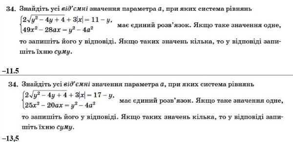Математика. ЗНО 2014. Відповіді та розв'язання 16