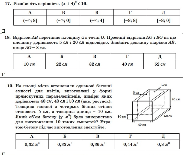 Математика. ЗНО 2014. Відповіді та розв'язання 6