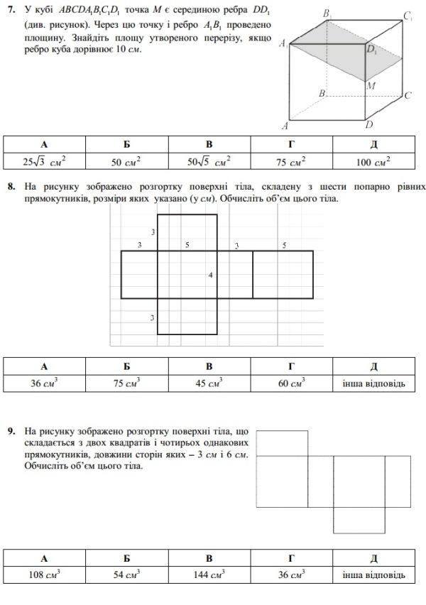 Стереометрія. Узагальнення. 1