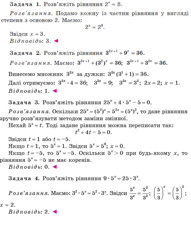 Методи розв'язування показникових рівнянь. 1 частина